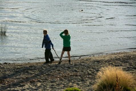 Having fun on lake Te Anau
